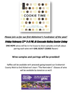 Girl Scout Cookie and Wine Pairing event! @ Cascade Valley Senior Living