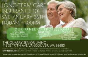 Long Term Care Insurance 101 @ The Quarry Senior Living