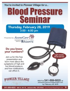 Blood Pressure Seminar @ Pioneer Village