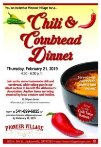 Chili & Cornbread Dinner at Pioneer Village @ Pioneer Village