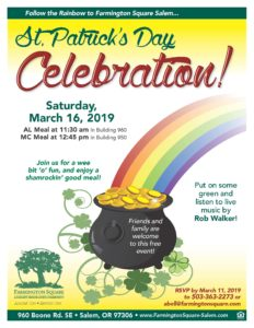 Saint Patrick's Day Celebration! @ Farmington Square Salem