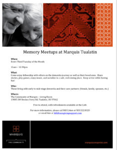 Memory Meetup at Marquis Tualatin @ ZOOM