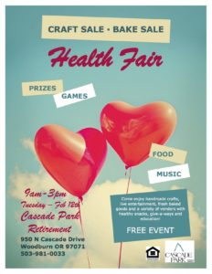 Health Fair at Cascade Park @ Cascade Park Retirement