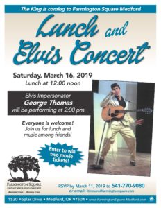 Lunch with Elvis Concert @ Farmington Square Medford
