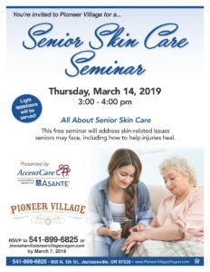 Senior Skin Care Seminar @ Pioneer Village