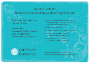 Puget Sound Retirement Connection Guide Release Party @ Mercer Island Community and Event Center | Mercer Island | Washington | United States