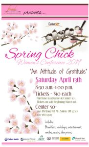 "Spring Chick Women's Conference 2019 ""An Attitude of Gratitude"" @ Center 50+"