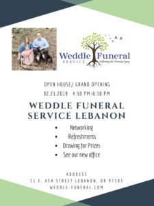 Weddle Funeral Service Lebanon's Open House @ Weddle Funeral Serice Lebanon