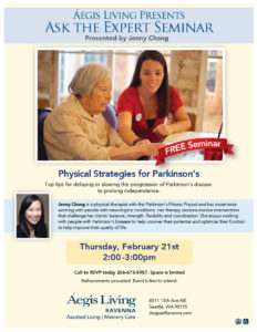 Physical Strategies for Parkinson's @ Aegis at Ravenna
