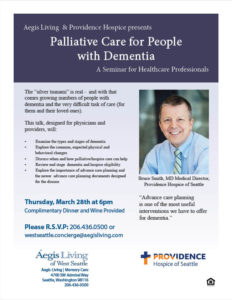 Healthcare Professionals Event: Palliative Care for People with Dementia @ Aegis Living of West Seattle