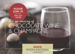 Chocolate, Wine & Champagne @ Mission Healthcare at Bellevue