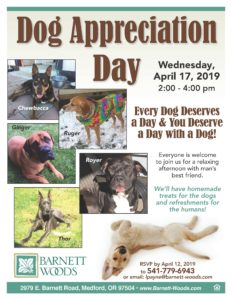 Dog Appreciation Day @ Barnett Woods Independent Living