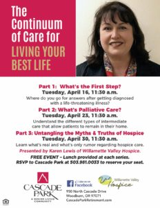 The Continuum of Care for Living Your Best Life @ Cascade Park