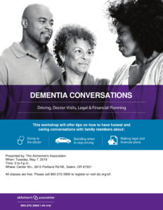 Dementia Conversations @ Center 50+
