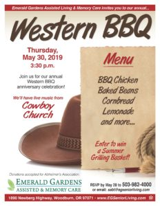Western BBQ @ Emerald Gardens Assisted Living & Memory Care