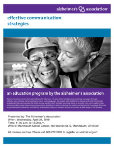 Effective Communication Strategies @ Monmouth Senior Center