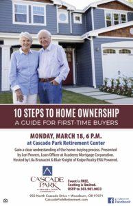 10 Steps to Home Ownership @ Cascade Park
