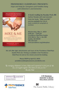 """Mike and Me"" Reading - Hope and Help for Those Living with Alzheimer's and Dementia @ Providence ElderPalce Seattle"
