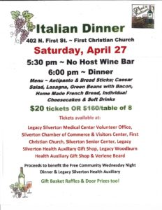 Italian Dinner @ Silverton First Christian Church