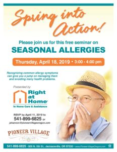 Seasonal Allergies Seminar @ Pioneer Village