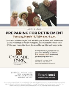 Preparing for Retirement Lunch & Learn @ Cascade Park