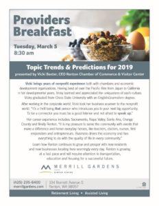 Providers Breakfast @ Merrill Gardens Renton Centre