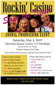 Rockin' Casino Annual Fundraising Event @ Silverton Senior Center