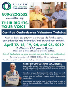 Long-Term Care Ombudsman Training @ TBD