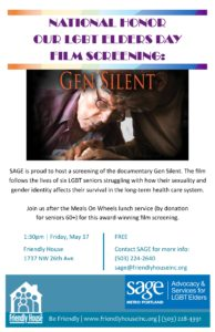 """Gen Silent"" Documentary Film Screening @ Friendly House"