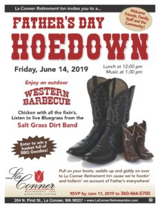 Father's Day Hoedown & Barbecue @ La Conner Retirement Inn