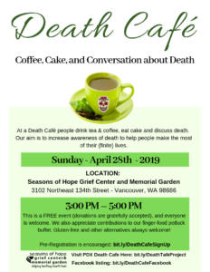 Death Café @ Seasons of Hope Grief Center and Memorial Garden
