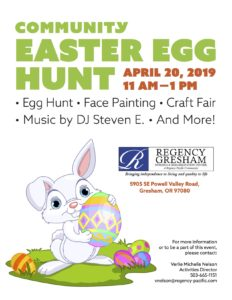 Community Easter Egg Hunt @ Regency Gresham Nursing and Rehabilitation Center