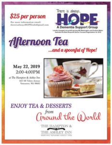 Afternoon Tea...and a spoonful of Hope Fundraiser @ The Hampton and Ashley Inn