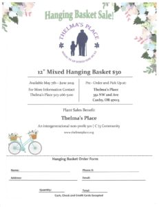 Hanging Basket Sale at Thelma's Place! @ Thelma's Place