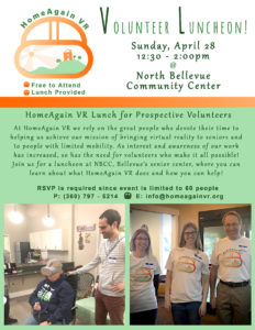 HomeAgain VR Luncheon @ North Bellevue Community Center