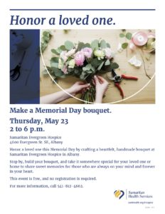 Honor A Loved One @ Samaritan Evergreen Hospice
