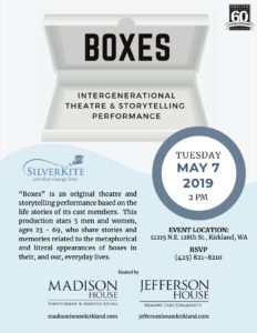 Boxes: Intergenerational Theatre & Storytelling Performance @ Madison House Independent & Assisted Living