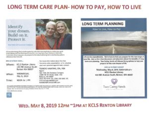 Long-Term Care Planning @ KCLS Renton Library