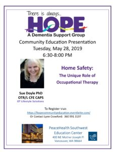 HOPE Dementia Support Groups - Community Education @ PeaceHealth Education Center