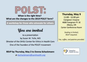 POLST @ Evergreen Hospice - Carter Conference Room