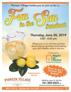 Fun in the Sun Seminar @ Pioneer Village