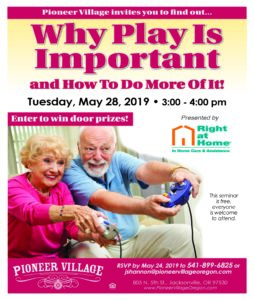 Why Play IS Important and How To Do More of IT! @ Pioneer Village