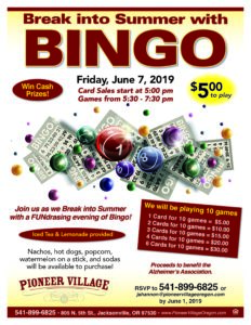 Break into Summer with BINGO! @ Pioneer Village