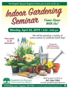 Indoor Gardening Seminar @ Farmington Square Eugene