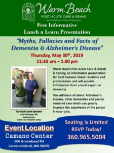 """Myths, Fallacies and Facts of Dementia & Alzheimer's Disease"" @ Camano Center"