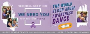 10th Annual Turn the Town Purple World Elder Abuse Awareness @ Luepke Senior Center