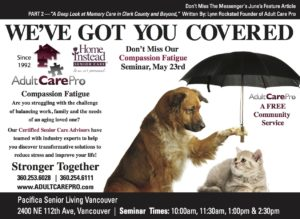 Compassion Fatigue Seminar, Hosted by Adult Care Pro and Home Instead Senior Care @ Pacifica Senior Living Vancouver