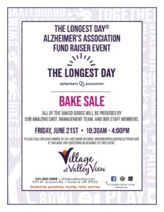 Bake Sale for the Longest Day @ The Village at Valley View