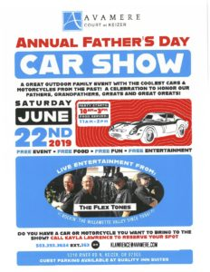 Annual Father's Day Car Show @ Avamere Court at Keizer