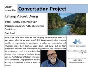 Talking About Dying @ Roseburg Public Library